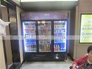重庆三开门展示柜多少钱KTV饮料柜价格