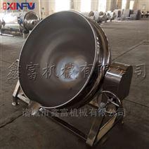 廠家諸城鑫富不銹鋼可傾式電加熱夾層鍋