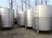 低价出售二手55立方立式卧式不锈钢储罐