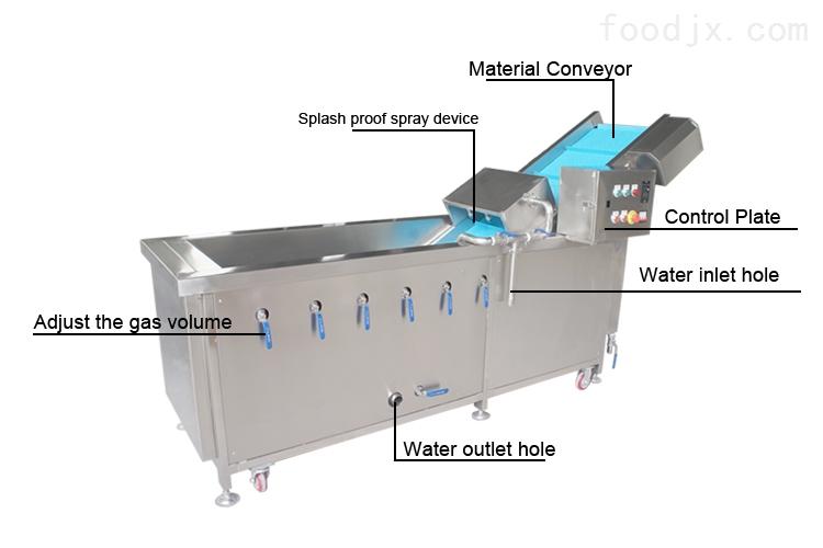 多功能翻浪洗菜机,自动气泡洗水果机