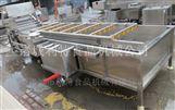 全自动果蔬气泡式清洗机叶菜清洗流水线