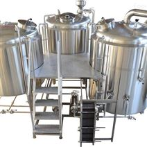 夏季精酿啤酒酿造机器厂家啤酒设备一套价格