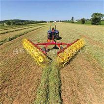 拖拉机牵引式搂草机 圆盘牧草收集机