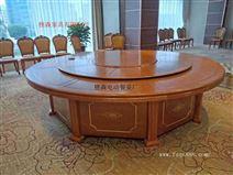 餐厅电动大圆桌 大理石电动餐桌 火锅桌