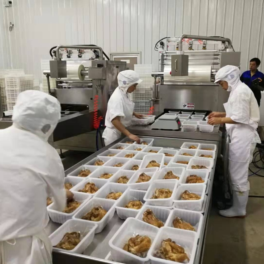 鹵味素食保鮮盒式真空包裝機