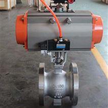 天津V型阀 压滤机专用球阀 气动V型球阀