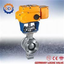 德國洛克進口電動V型調節球閥