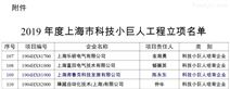 弗鲁克获2019年度上海市科技小巨人工程立项