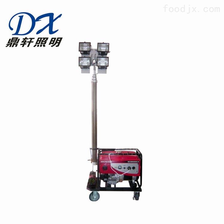 遥控升降移动照明泛光灯2*400W本田发电机