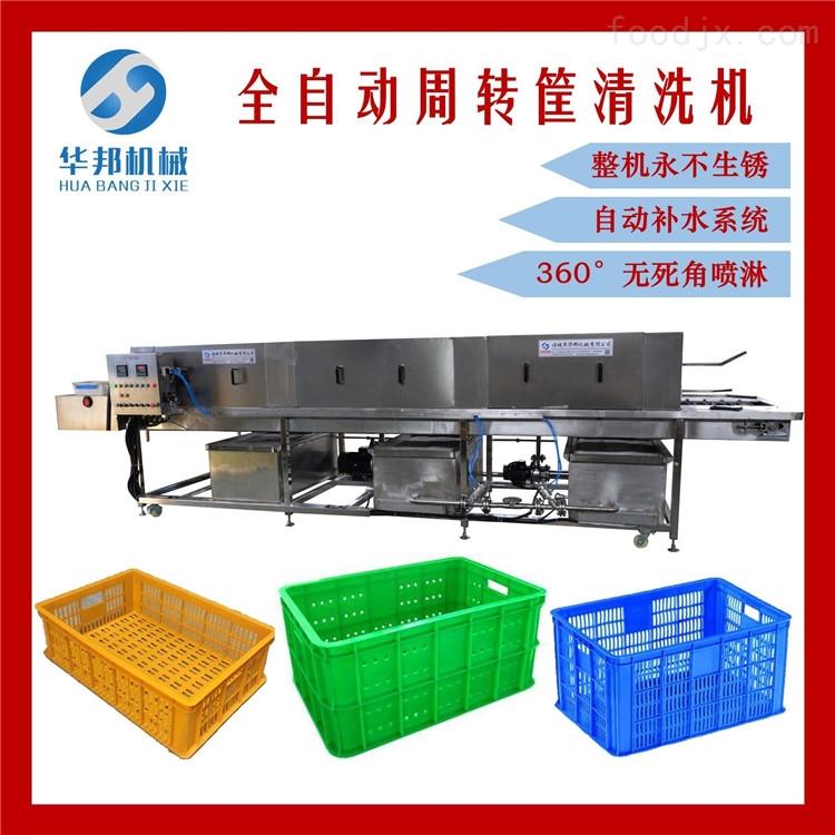 华邦机械全自动洗箱机/洗筐机 托盘清洗机