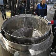 圆形带吊笼煮肉锅电加热式