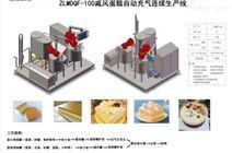 蛋糕自动充气连续生产线
