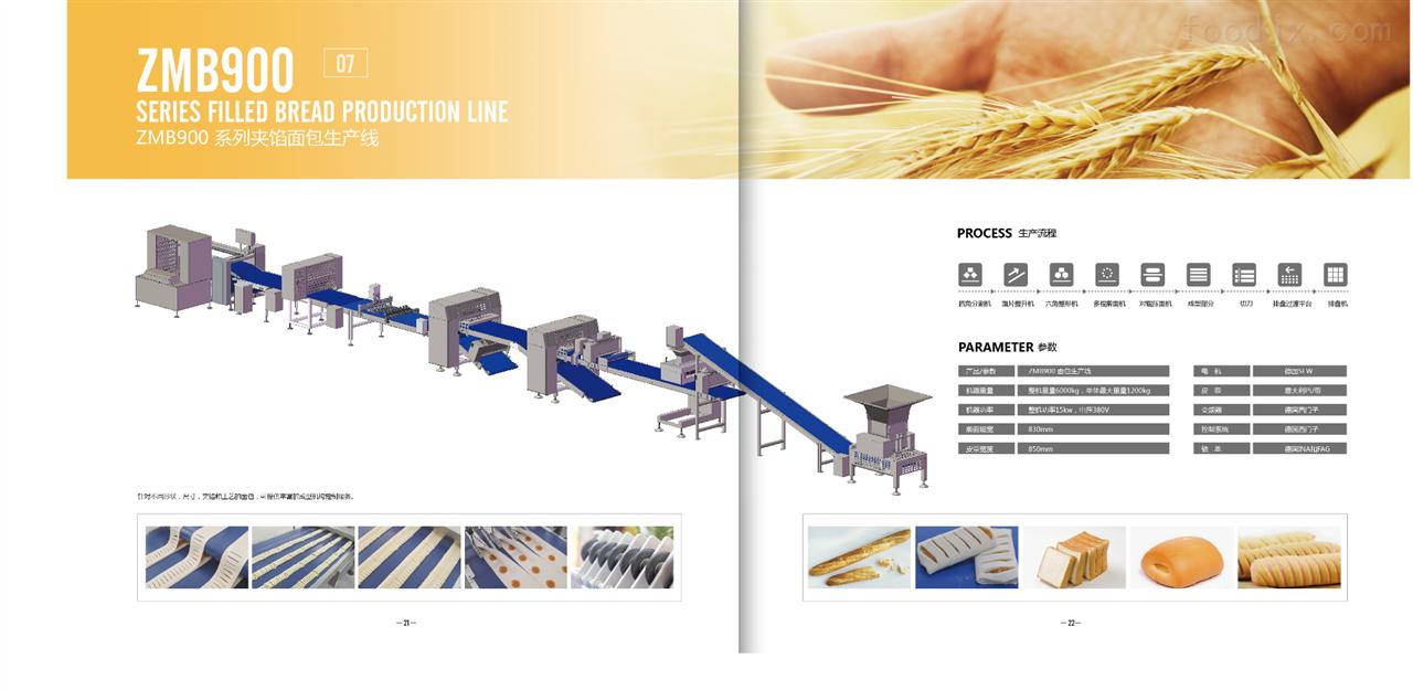 ZMB900系列夹馅面包生产线