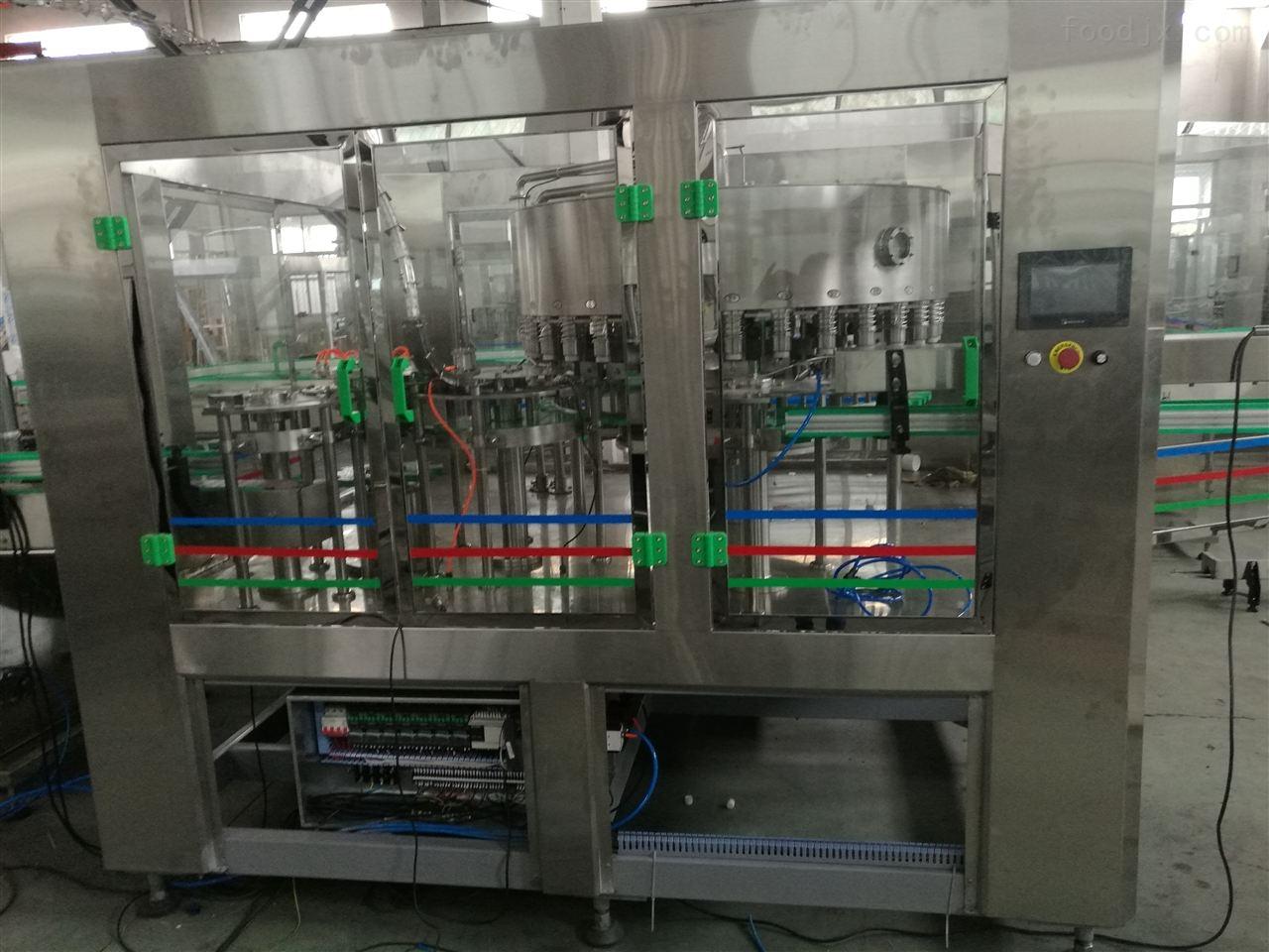 全自动真空吸盖醋类灌装生产线