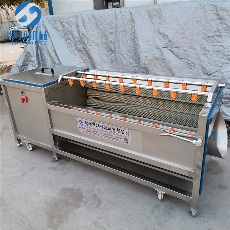 华邦机械毛刷土豆清洗机 胡萝卜清洗设备