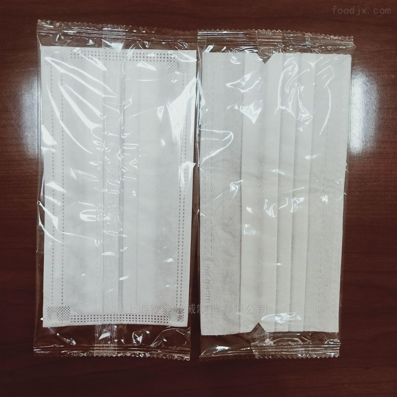 三层熔喷布口罩枕式包装机 平面口罩生产线