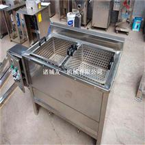 食品加工设ζ 备厂家~全自动小型电加�I 热油炸机