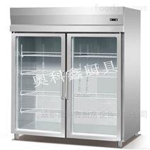 成都商用厨房设备双门展示柜