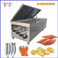 BQX-2200-6连续式红薯清洗机洗萝卜机器土豆水洗设备