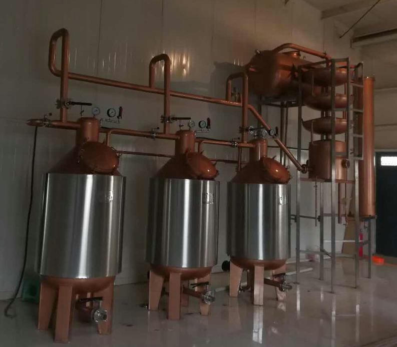 果酒白兰地蒸馏机组-保证去除甲醇